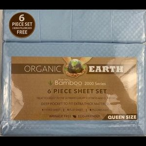 Microfiber Sheet Set Queen Sheets Blue